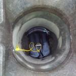Poduszki sorbcyjne zamontowane w kanalizacji deszczowej